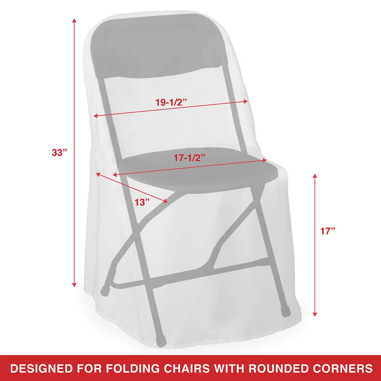 Lann S Linens 10 Elegant Wedding Party Folding Chair Covers Polyester Cloth White Lann S Linens